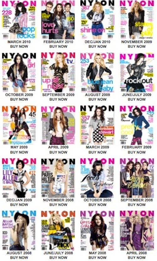 "Nylon's ""It Girls"" Are Overwhelmingly White"
