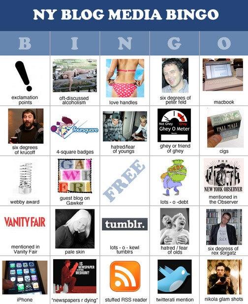 Let's Play NY Blog Media Bingo!