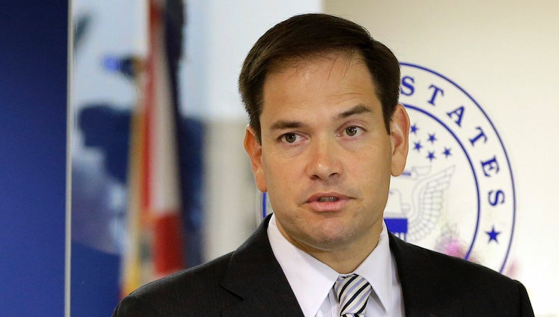 Marco Rubio Is Really Doing This