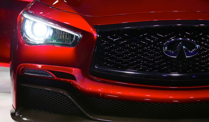 The Infiniti Q50 Eau Rouge Has The Best Paint Job In Detroit