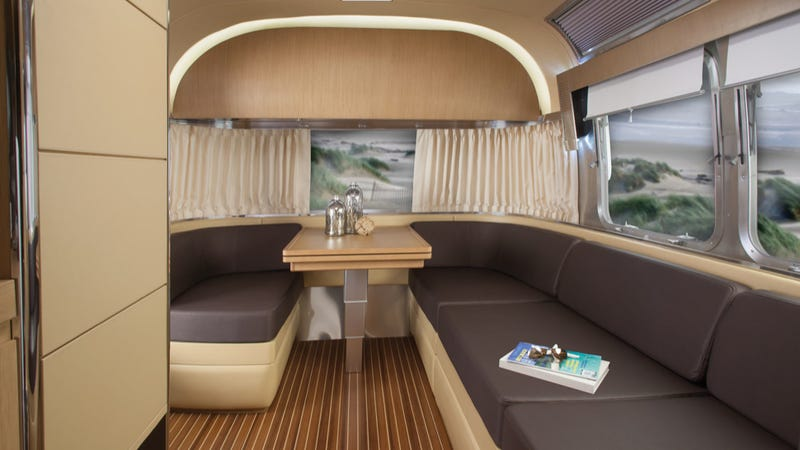 Airstream Builds An Insane Land-Going Yacht Full Of 'Ultraleather'