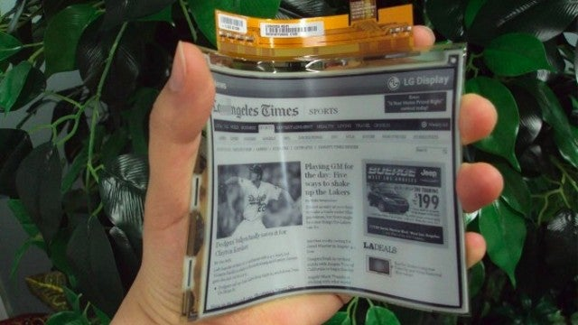 This Flexible E-Ink Display Will Be in Real Devices This Summer