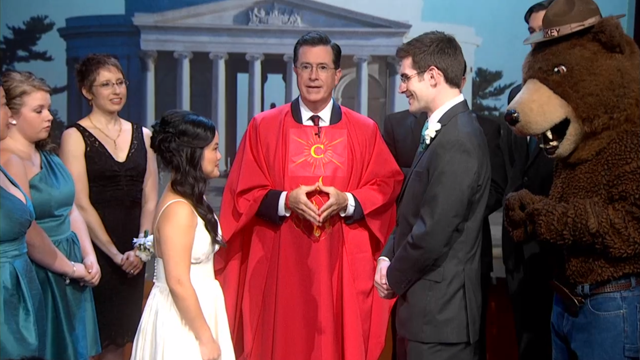 Stephen Colbert Hosted a Wedding and It Was the Sweetest Thing Ever