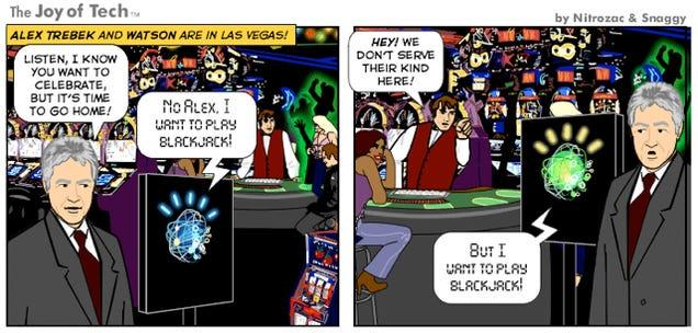 Alex Trebek and Watson Tear Up Las Vegas