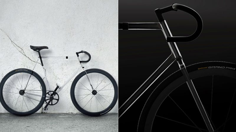 Nobody Would See You Coming on This Beautiful Transparent Bike