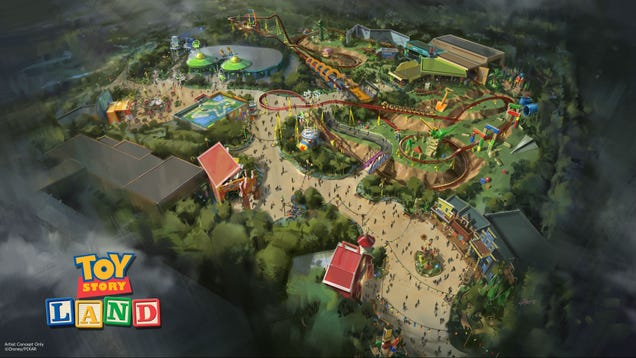 Get Shrunk to Toy Size and Ride A Slinky At New Toy Story Land Theme Park