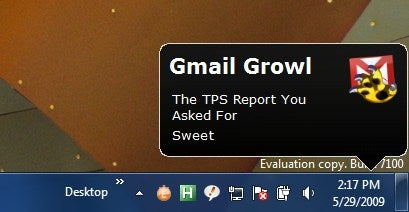 Growl for Windows Updates, Adds Gmail Notifications