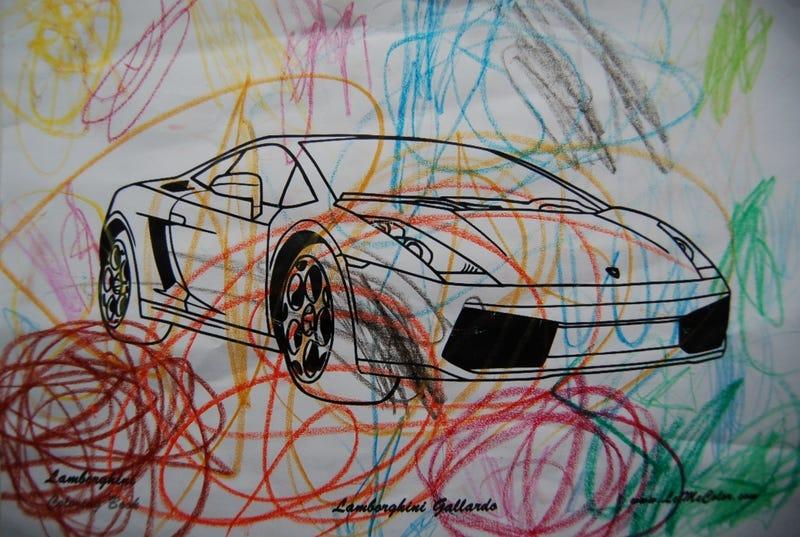Lamborghini Coloring Book: Color Me Urraco