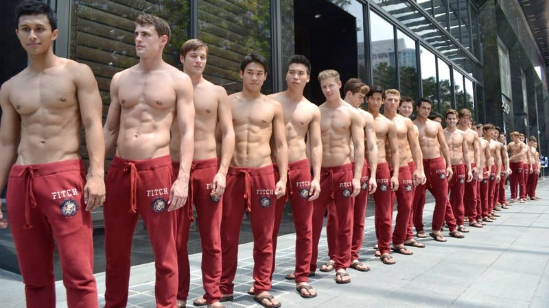 You Can't Stop Staring at Abercrombie's Half-Naked Store Openings