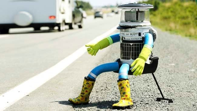 hitchBOT's Epic 3,800 Mile Journey Across Canada Has Officially Begun