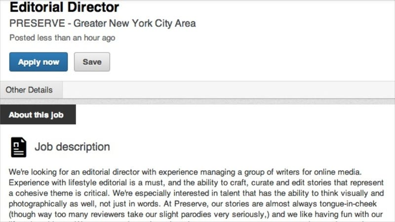 You Could Be the Editorial Director of Blake Lively's Preserve