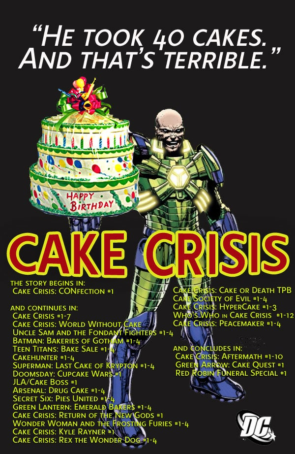 A brief history of Lex Luthor's cake-stealing antics