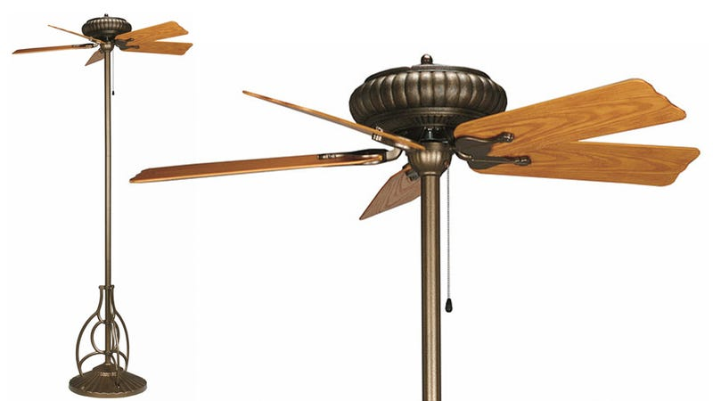 On a Scorcher Like Today, Even This Standing Ceiling Fan Makes Sense