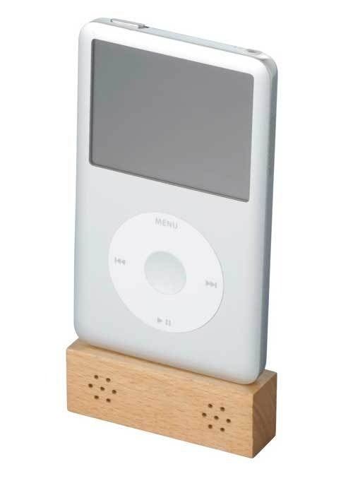 Tiny Wooden Speakers for All iPods Make Me Hungry