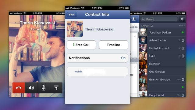 Facebook Adds Free Voice Calling to its iOS App