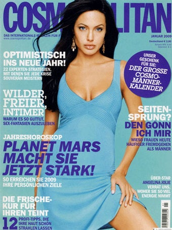 Foreign Cosmo Runs the Same Angelina Jolie Covers Over and Over Again