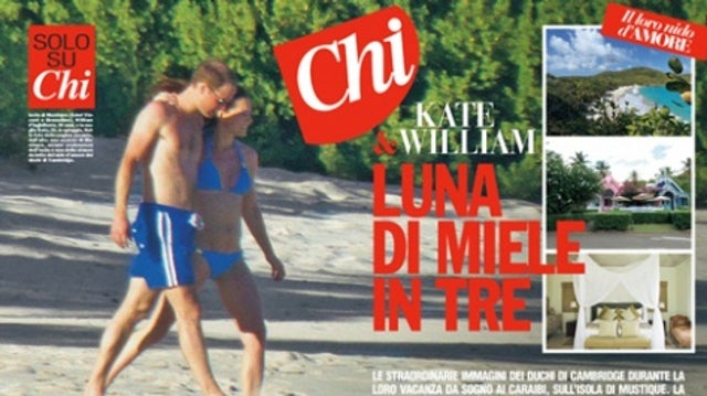 First Photos of Kate Middleton's Bare Baby Bump Published in Italian Gossip Magazine