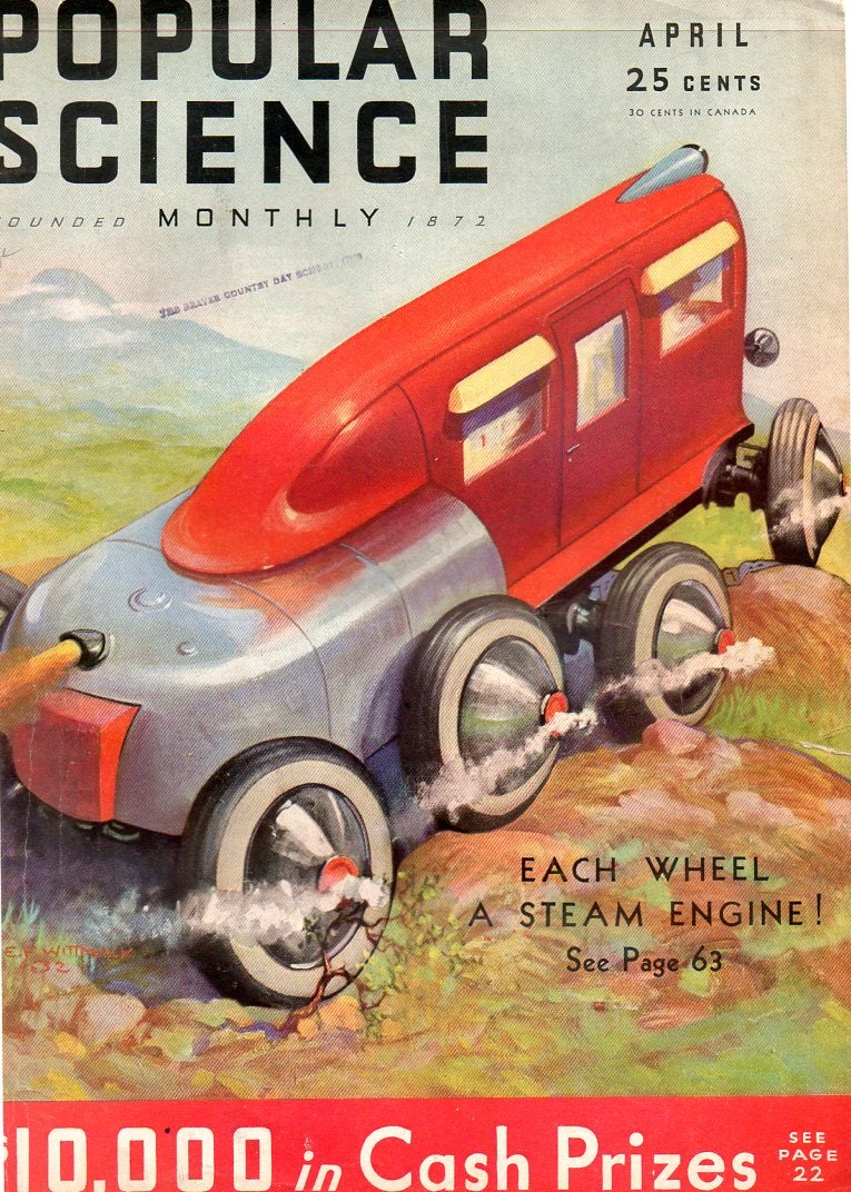 Futuristic vehicles that never existed, like the anti-tiger tank and octopus fire truck