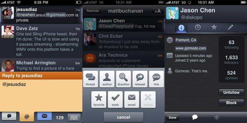 Twitterific 2.0 iPhone App Lightning Review