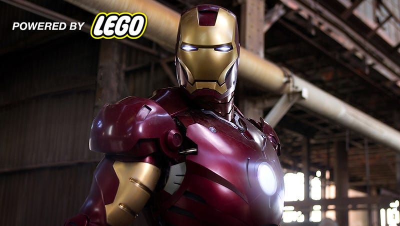 According to Tony Stark's code, the Iron Man suit is made with Lego