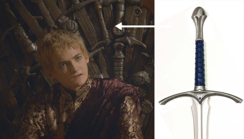 Yep, that's totally Gandalf's sword in Game of Thrones' Iron Throne