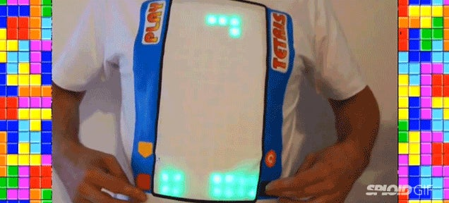 You can actually play Tetris on this electronic t-shirt