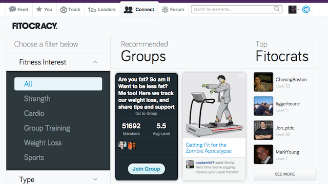 Fitocracy Adds Social Tools to Help You Stay Motivated and Find Friends
