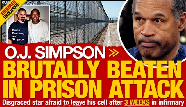 O.J. Simpson Didn't Really Get Beaten Silly By A White Supremacist After All