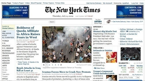 Would You Pay $5 a Month to Read the New York Times Online?