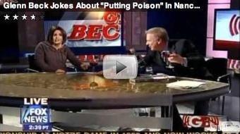 Glenn Beck 'Jokes' About Poisoning Nancy Pelosi