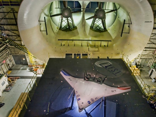 Giant NASA Wind Tunnel Blows One Last Time For Concept Plane