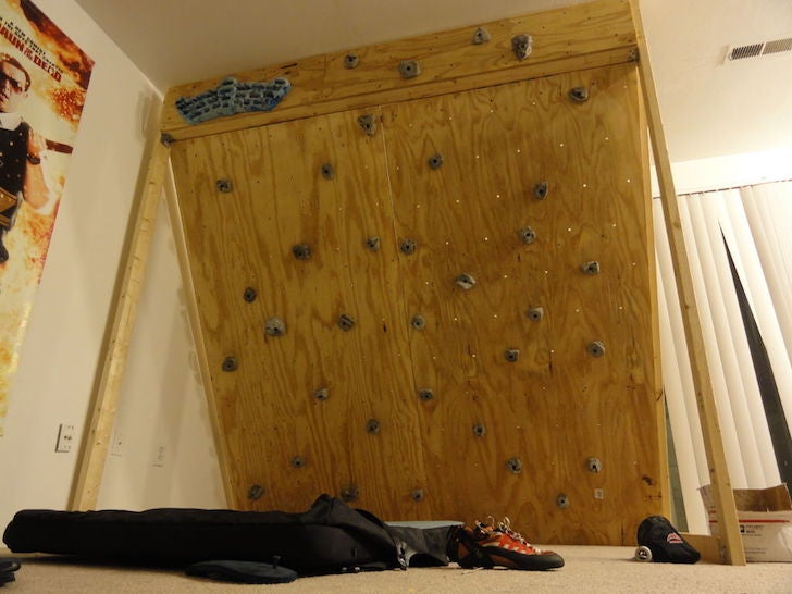 Build Your Own Affordable, Freestanding Climbing Wall