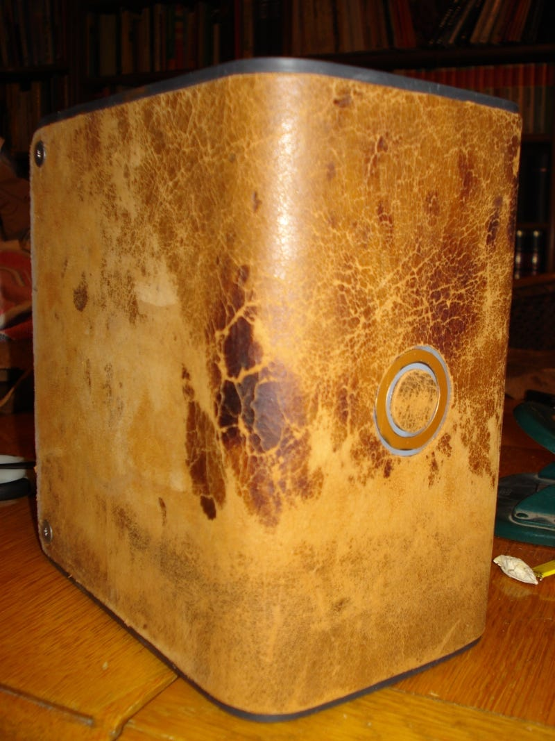 DIY Aged Leather-Bound Hard Drive Is At Total Odds With Your Slob Lifestyle