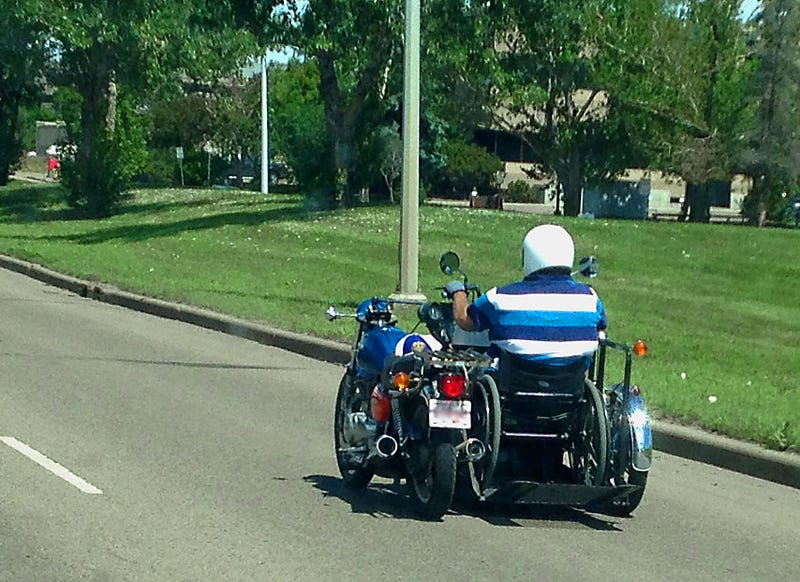 Two wheels bad.