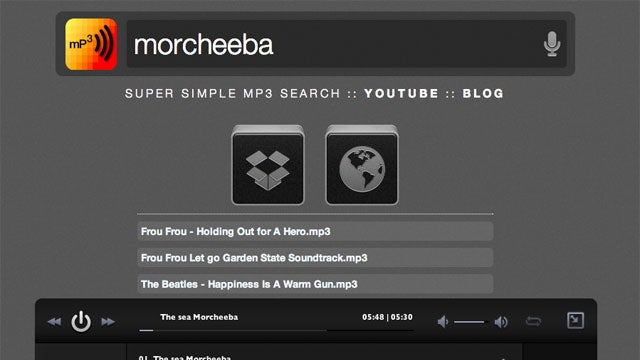 mPPP Is a Web-Based MP3 Search Engine That Slurps Music Straight to Dropbox