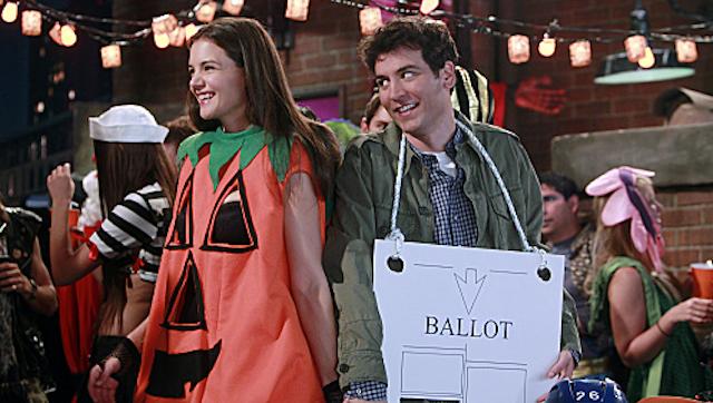 First Look: Katie Holmes Is The 'Slutty Pumpkin'