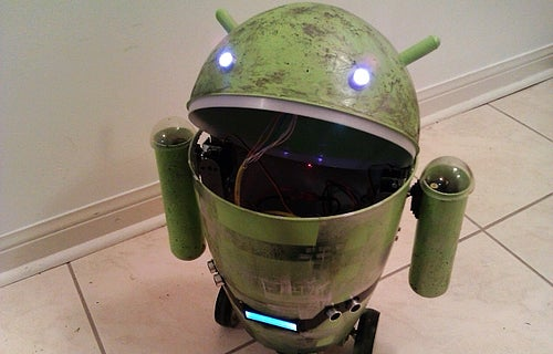 Trash Can Android Robot Can Bust A Move, Won't Check Your Email