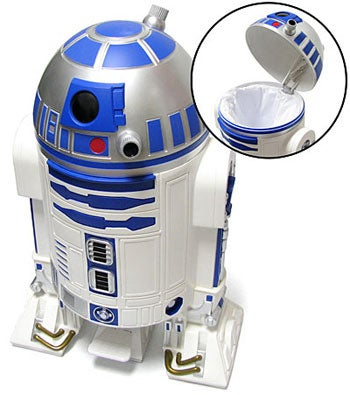 R2D2 Trash Can Gladly Accepts Your Garbage