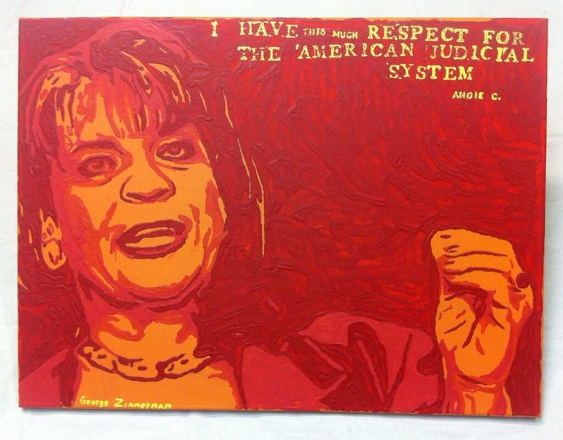 George Zimmerman Is Selling a New Awful Douchey Painting