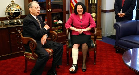 Sotomayor Breaks Ankle