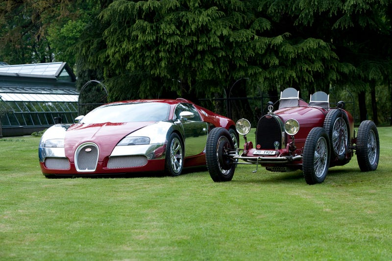 Four Bugatti Veyron Centenaires Add Splash Of Pseudo-Historical Color