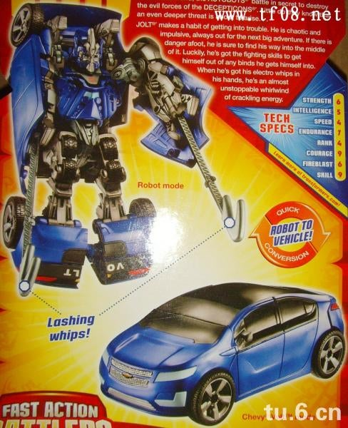 "Transformers 2 Chevy Volt Gets A Name: ""Jolt"""