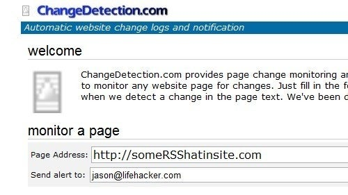 ChangeDetection Keeps You Updated on Feed-Free Web Sites