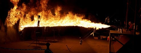 Fairground Shooting Gallery Gets Flamethrower Makeover for Burning Man