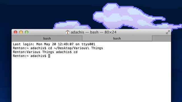 Type Two Letters in the Terminal and Get Back to Your Home Directory