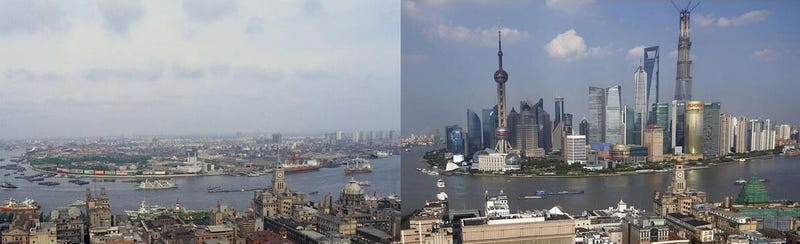 Amazing Comparison: Shanghai 1987 Versus 2013