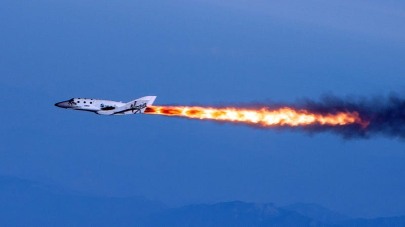 Virgin Galactic's SpaceShipTwo has made its first powered test flight!