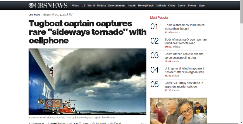 "CBS News Falls for Hoax, Reports on Nonexistent ""Sideways Tornado"""