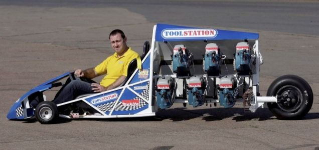 6-Circular-Saw Powered Dragster Is Lots of Fun and/or Potentially Horrible Death