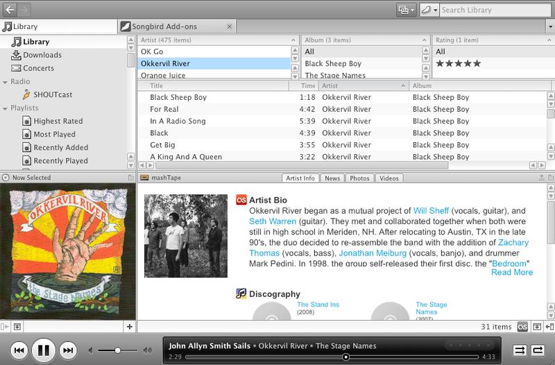 First Look at Songbird 1.0, aka iTunes Killer, aka Sloppy Mess